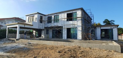 CASA FELIZ, A VISTA DEL MAR RESIDENCE - WINDOWS AND DOORS ARE IN!!!
