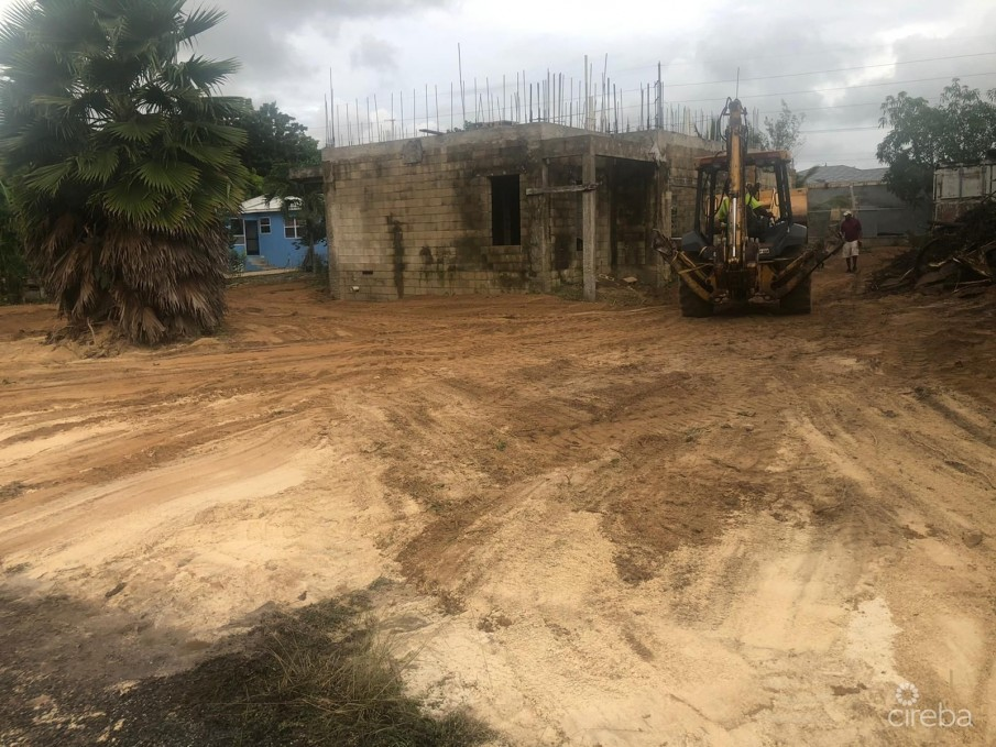 LAND WITH PARTIALLY BUILT HOUSE - Image 1