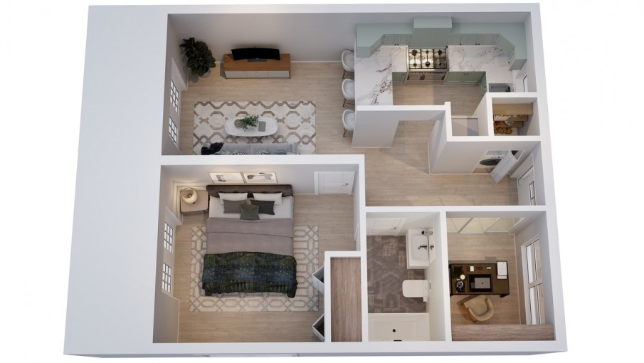 OMEGA BAY GARDENS PHASE 2, PRE-CONSTRUCTION 1 BED + DEN - Image 2